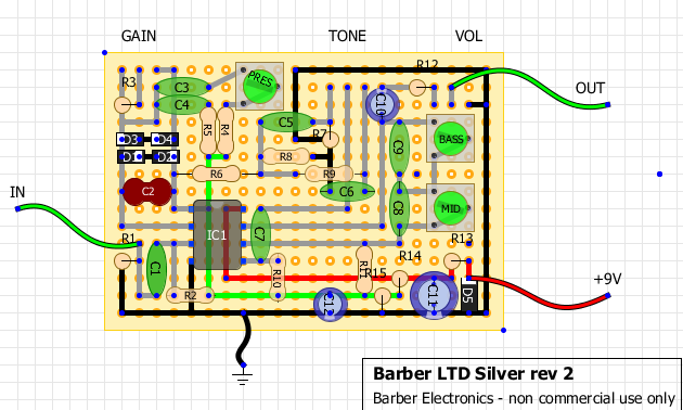 Barber Electronics says happy holidays with a circuit! on trim press, stone press, stretch press,